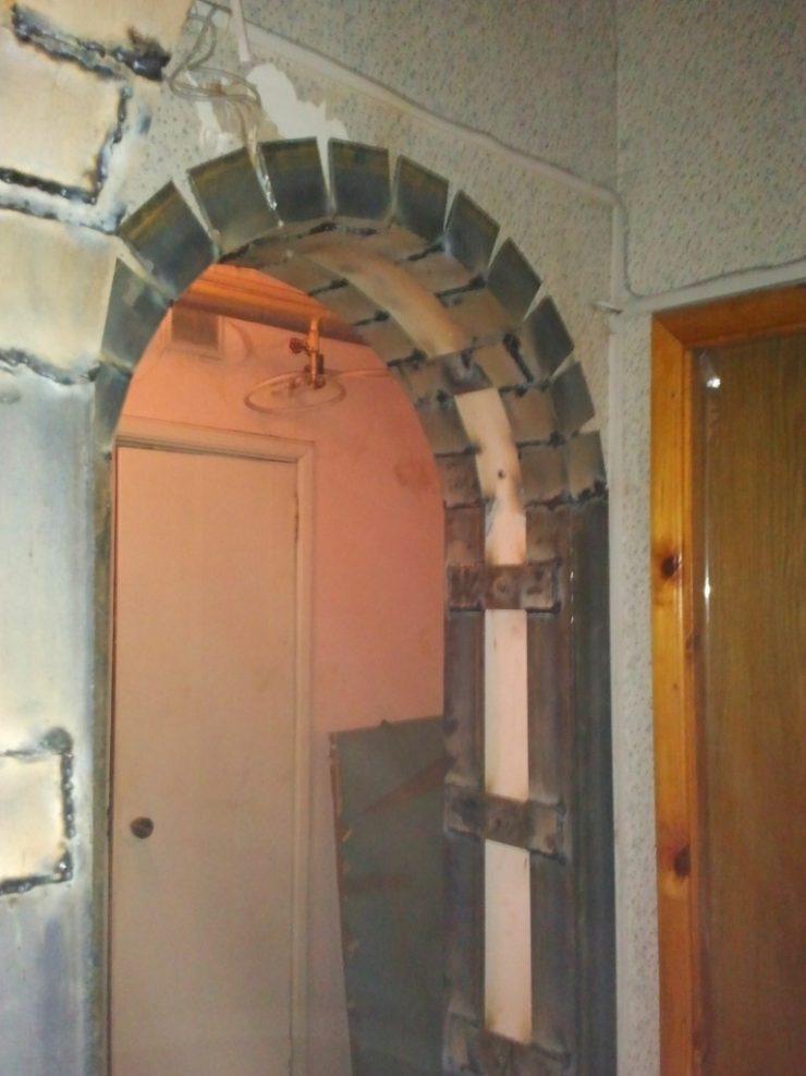 Фото. Усиление проема двери в стене. Казань.